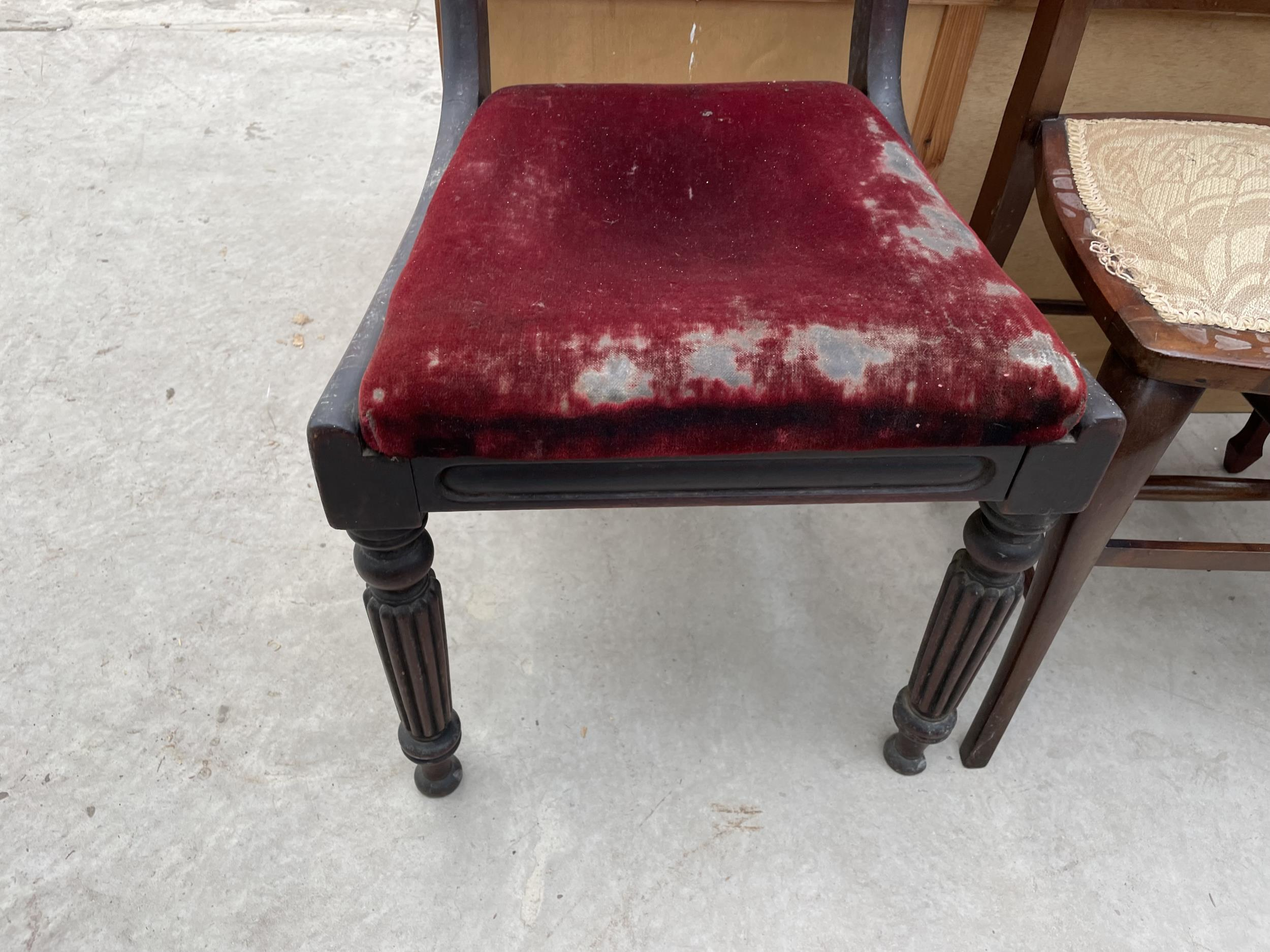 A 19TH CENTURY MAHOGANY DINING CHAIR - Image 3 of 3