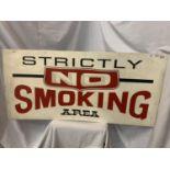A LARGE NO SMOKING METAL SIGN 122CMX58CM