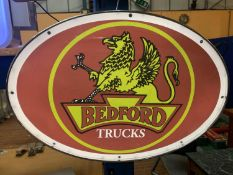 A BEDFORD TRUCKS ILLUMINATED SIGN