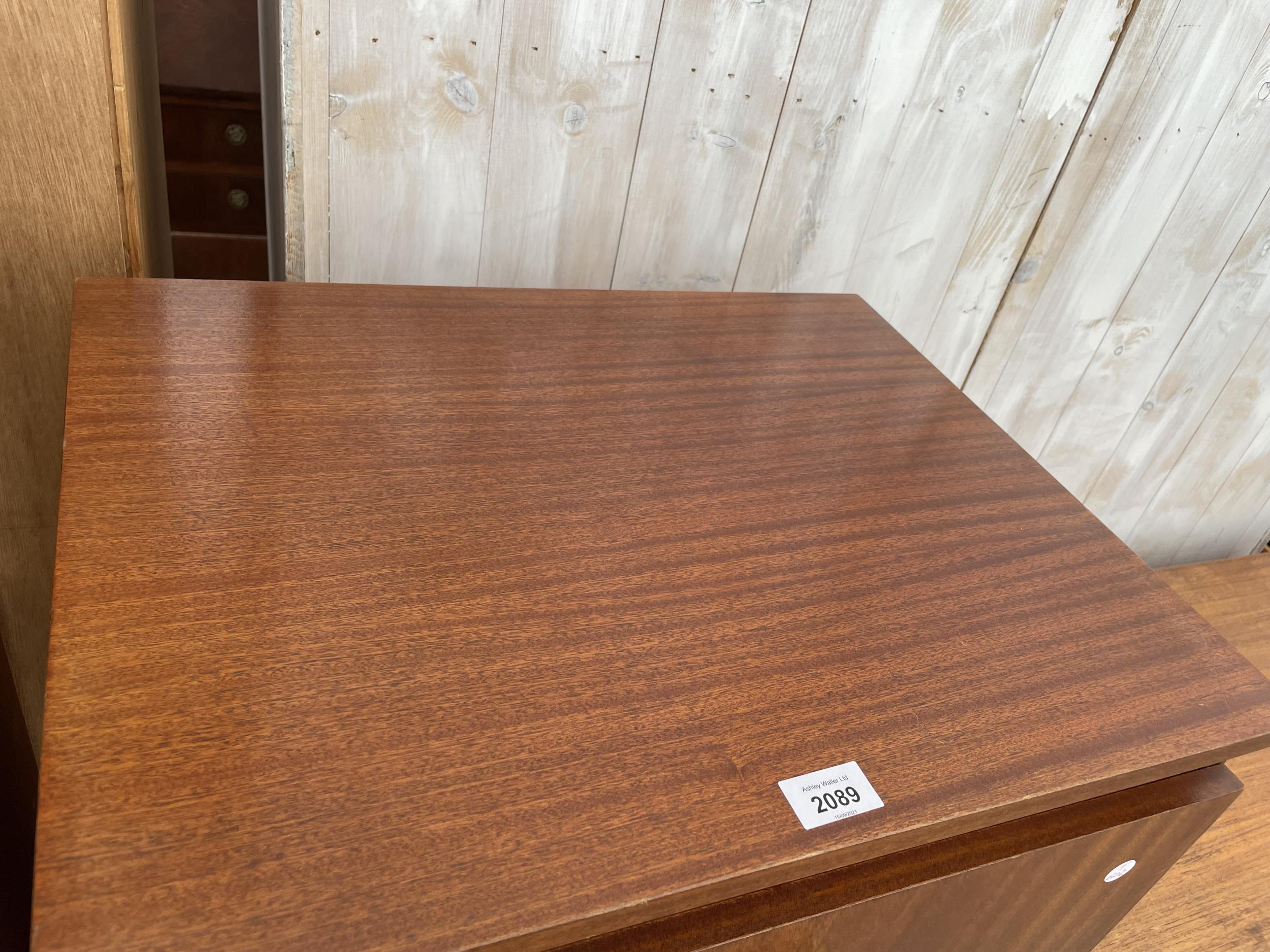 """A RETRO TEAK REMPLOY CHEST OF SIX DRAWERS, 21.5"""" WIDE - Image 2 of 2"""