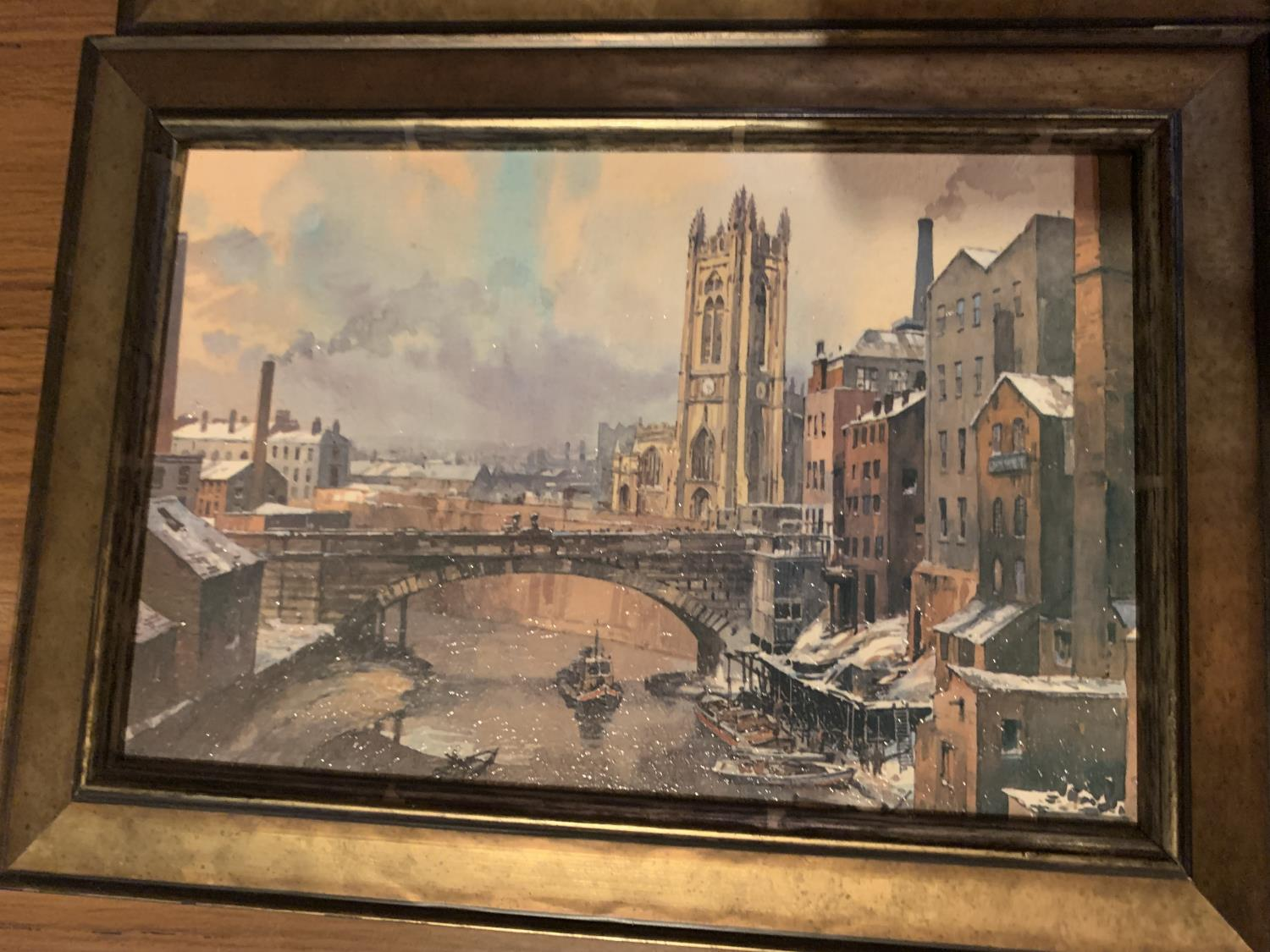 THREE FRAMED PRINTS OF CITY SCENES - Image 6 of 8