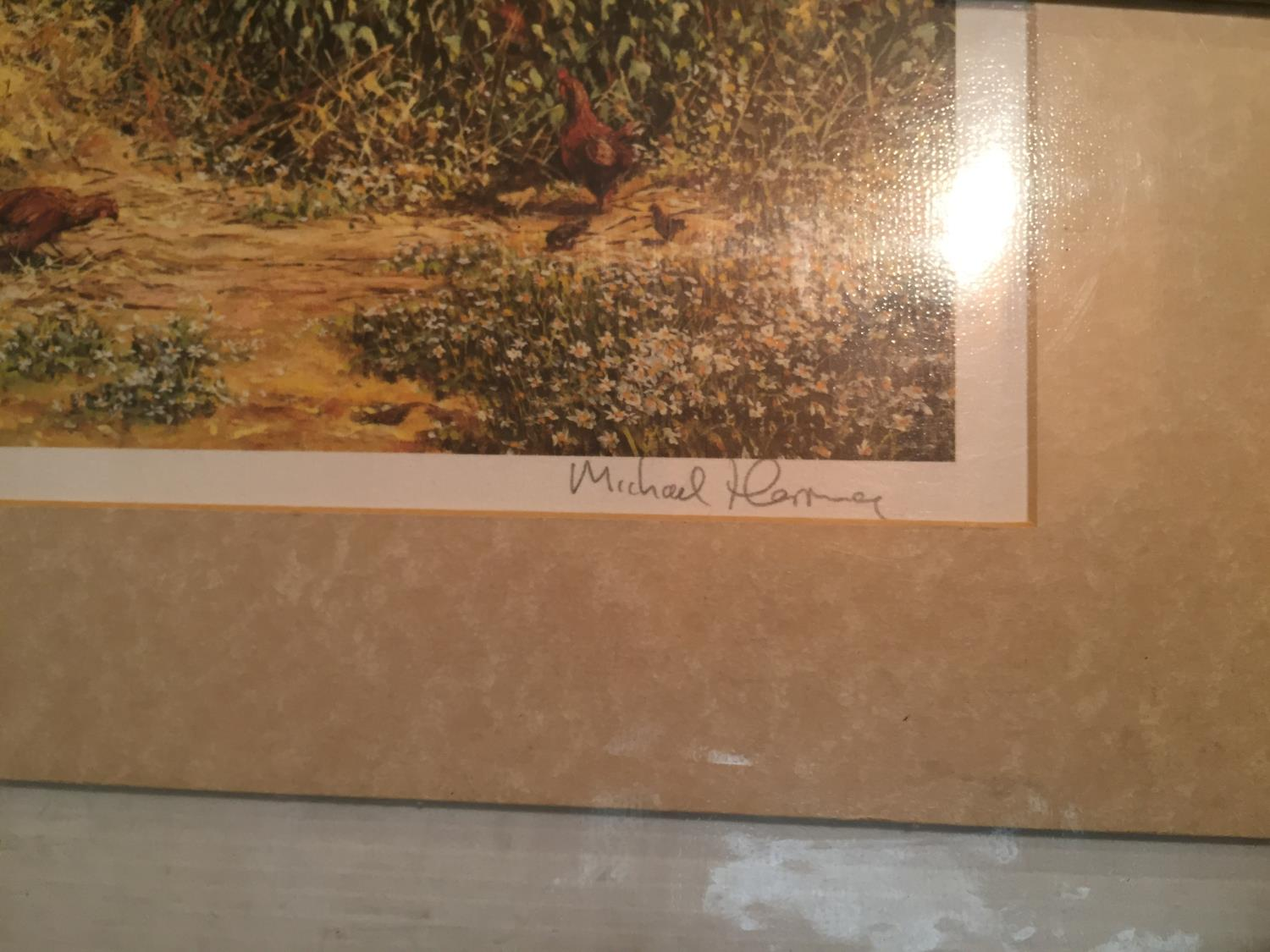 THREE MOUNTED SIGNED PRINTS OF FARM SCENES IN A HARDBACK PROTECTIVE FOLDER - Image 9 of 12