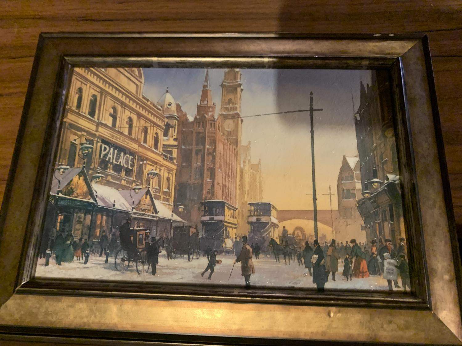 THREE FRAMED PRINTS OF CITY SCENES - Image 4 of 8