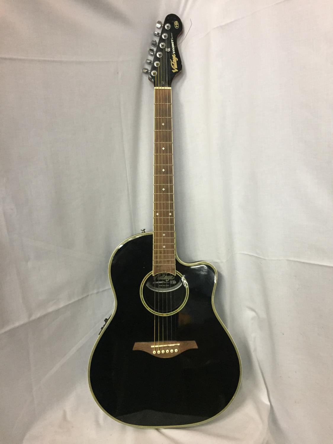 A BLACK VINTAGE SYNERGY SERIES GUITAR - Image 2 of 10