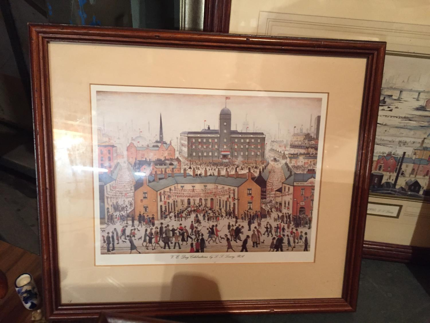 FOUR FRAMED LS LOWERY PRINTS TO INCLUDE A MONTAGE OF THREE - Image 6 of 10