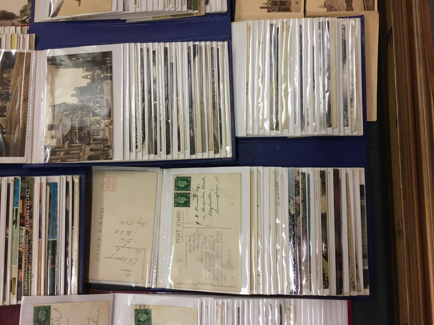 A LARGE COLLECTION OF 550+ ANTIQUE AND VINTAGE POSTCARDS RANGING FROM 1908-1970'S. MAINLEY UK - SOME - Image 7 of 14