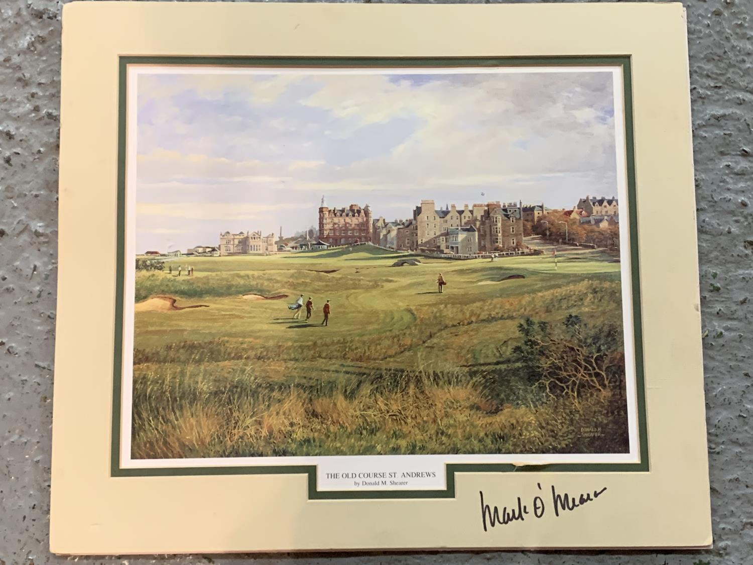 A MOUNTED PRINT OF THE OLD COURSE ST ANDREWS WITH AN INDISTINCT SIGNATURE - Image 2 of 6
