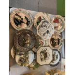A LARGE COLLECTION OF DECORATIVE CERAMIC PLATES
