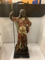 A COLD PAINTED BRONZE FIGURE OF LOUIS XIV