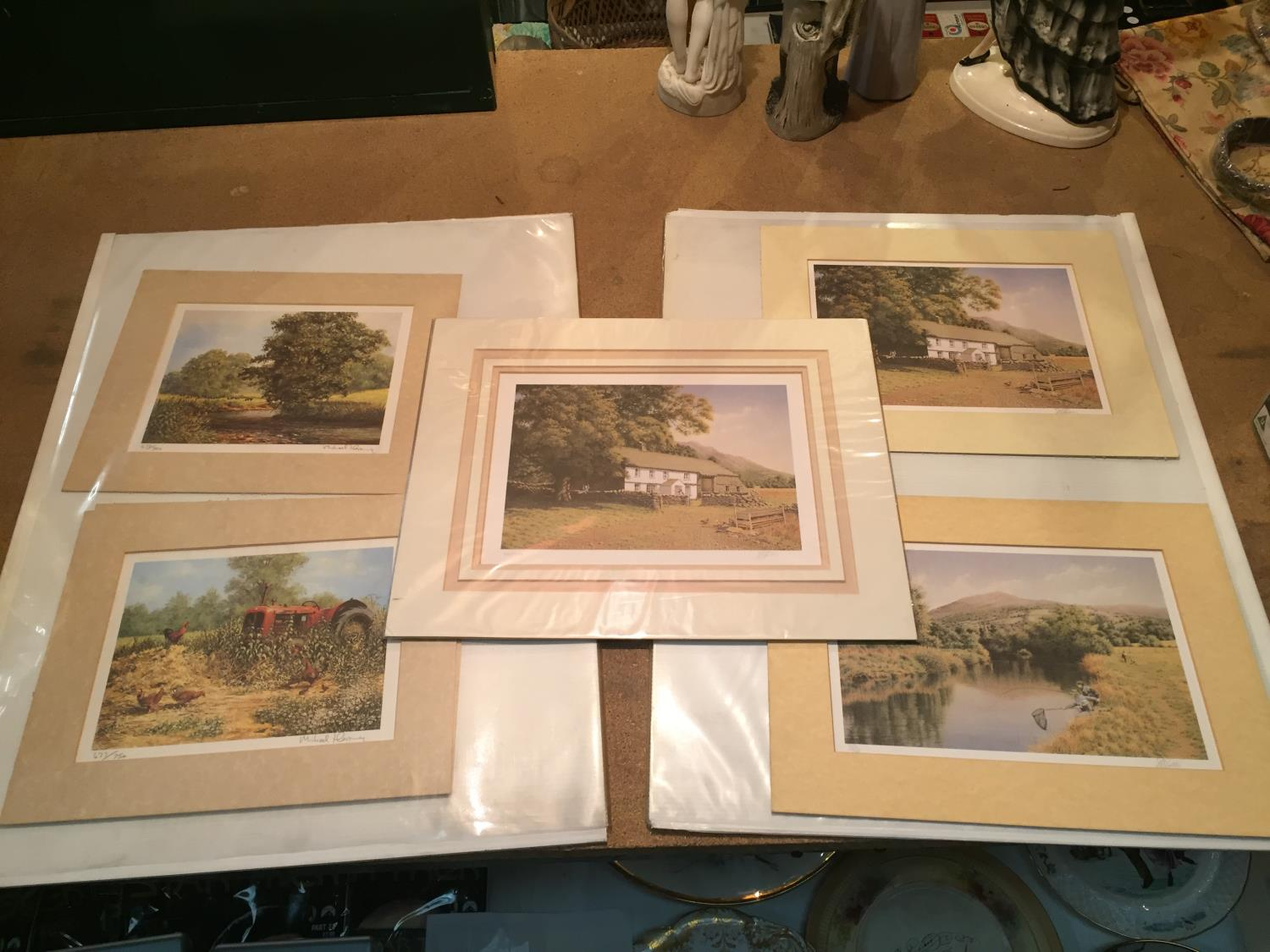 THREE MOUNTED SIGNED PRINTS OF FARM SCENES IN A HARDBACK PROTECTIVE FOLDER - Image 2 of 12