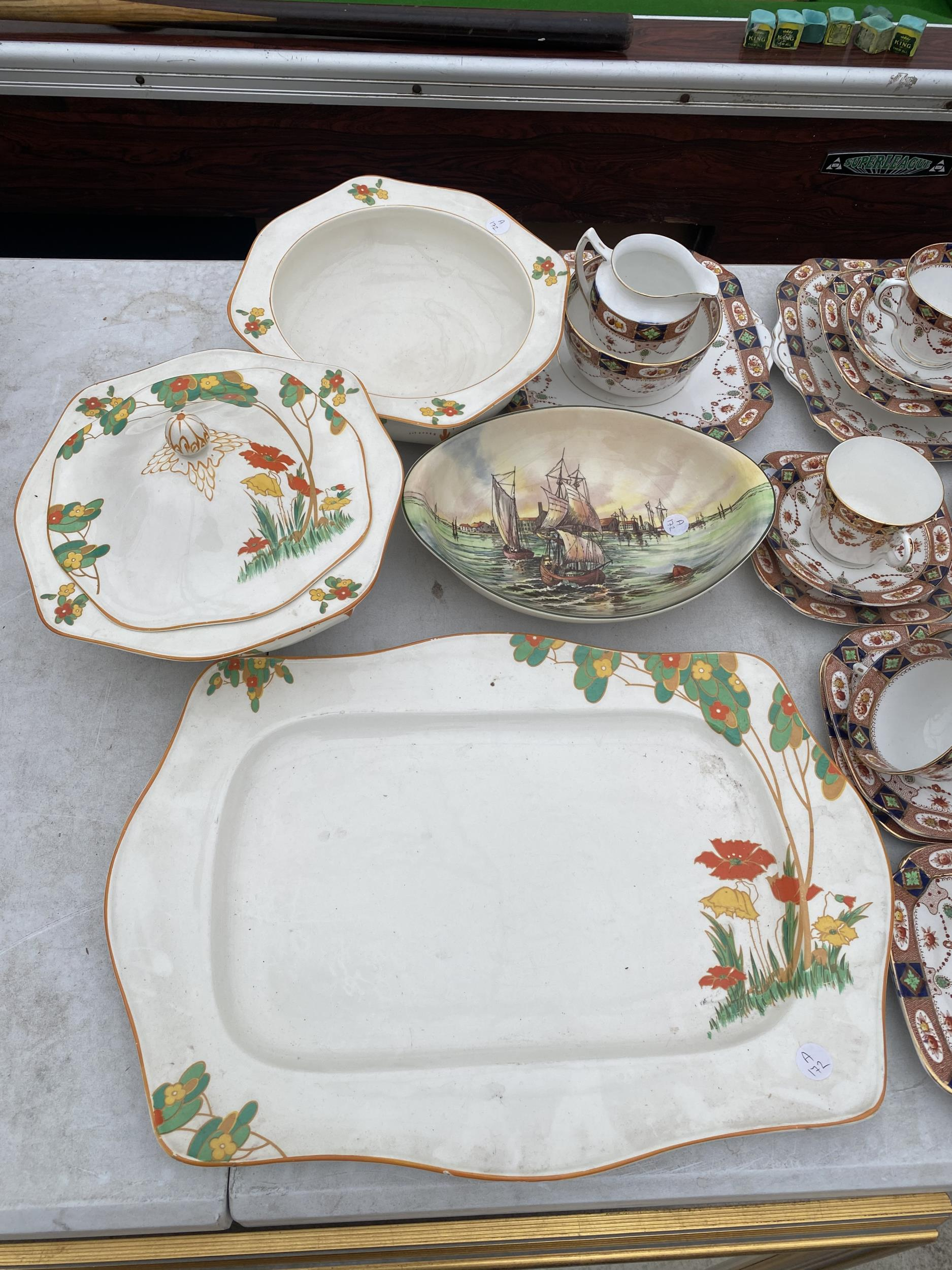 AN ASSORTMENT OF CERAMIC WARE TO INCLUDE ROYAL ALBION TRIOS ETC - Image 3 of 5