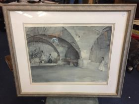 A PENCIL SIGNED SIR WILLIAM RUSSELL FLINT PRINT, SIGNED TO LOWER RIGHT CORNER WITH FINE ART GUILD