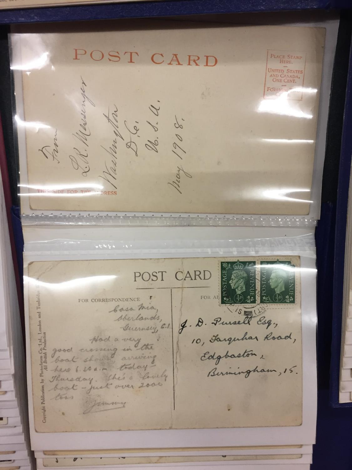 A LARGE COLLECTION OF 550+ ANTIQUE AND VINTAGE POSTCARDS RANGING FROM 1908-1970'S. MAINLEY UK - SOME - Image 10 of 14