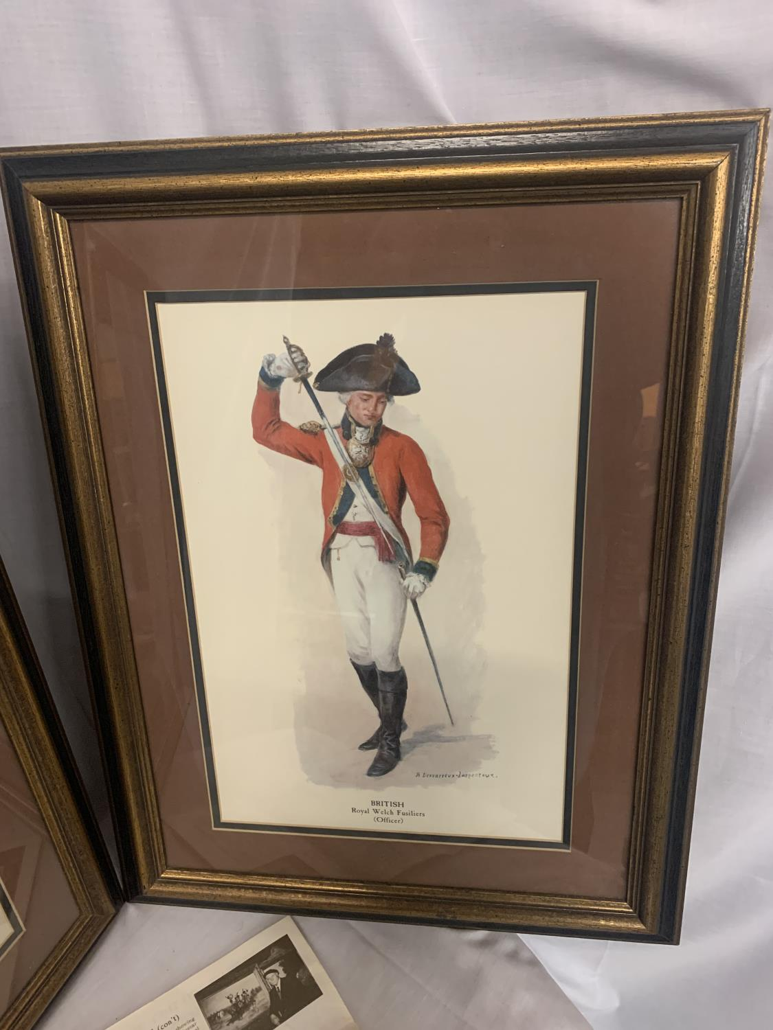 TWO FRAMED PICTURES OF ROYAL WELSH FUSILIERS AND HIGHLAND REGIMENT - Image 5 of 8
