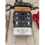 A GROUP OF SIX VARIOUS VINTAGE TRAVEL CASES