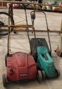 TWO ELECTRIC MOWERS NO VAT