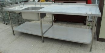 LARGE STAINLESS STEEL SINK UNIT NO VAT