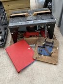 AN AMER SAW ROUTRE TABLE AND A VICE