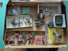VARIOUS UNBOXED MODEL ITEMS, MOSTLY BRITAINS - TWO CANONS, MILITARY FIGURES, WORZEL GUMMIDGE, FARM