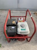 A GENERATOR WITH A HONDA GX240 ELECTRONIC IGNITION 8.0HP MOTOR + VAT