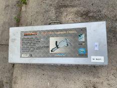 A BOSCHMANN ELECTRIC HAMMER CHISEL 1240W IN A METAL STORAGE CASE - NO VAT