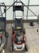 A HONDA GCV 160 PETROL LAWNMOWER WITH GRASS BOX NO VAT