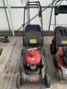 A HONDA HRX 537 PETROL LAWNMOWER WITH GRASS BOX WORKING NO VAT
