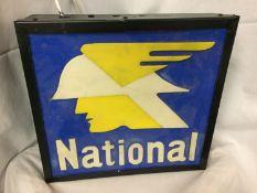 A NATIONAL ILLUMINATED LIGHT BOX SIGN