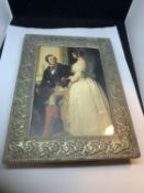 A VICTORIA AND ALBERT PHOTOGRAPH IN A FRAME