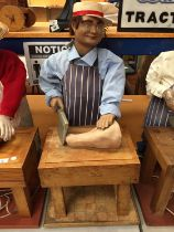 A 1970'S BUTCHER CHARACTER AUTOMATION PUPPET FIGURE