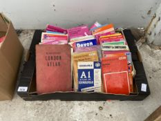 A LARGE ASSORTMENT OF ORDNANCE SURVEY MAPS AND ATLAS'