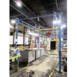 Gorbel 1,000lb Capacity 10'W x 18' Span Self Supporting Crane System with Jet 2 Ton Electric Hoist
