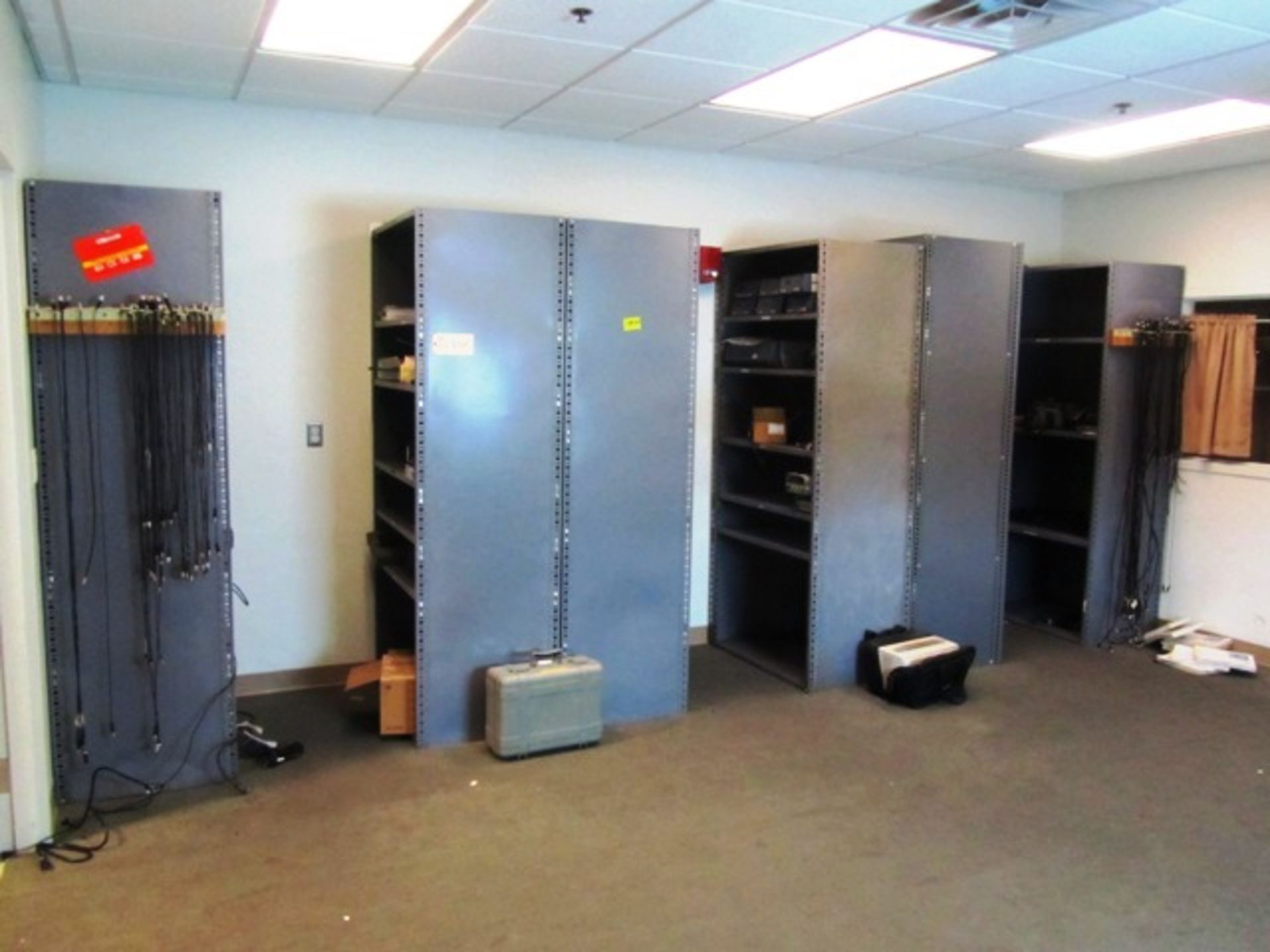 (6) Shelves with Lab Equipment
