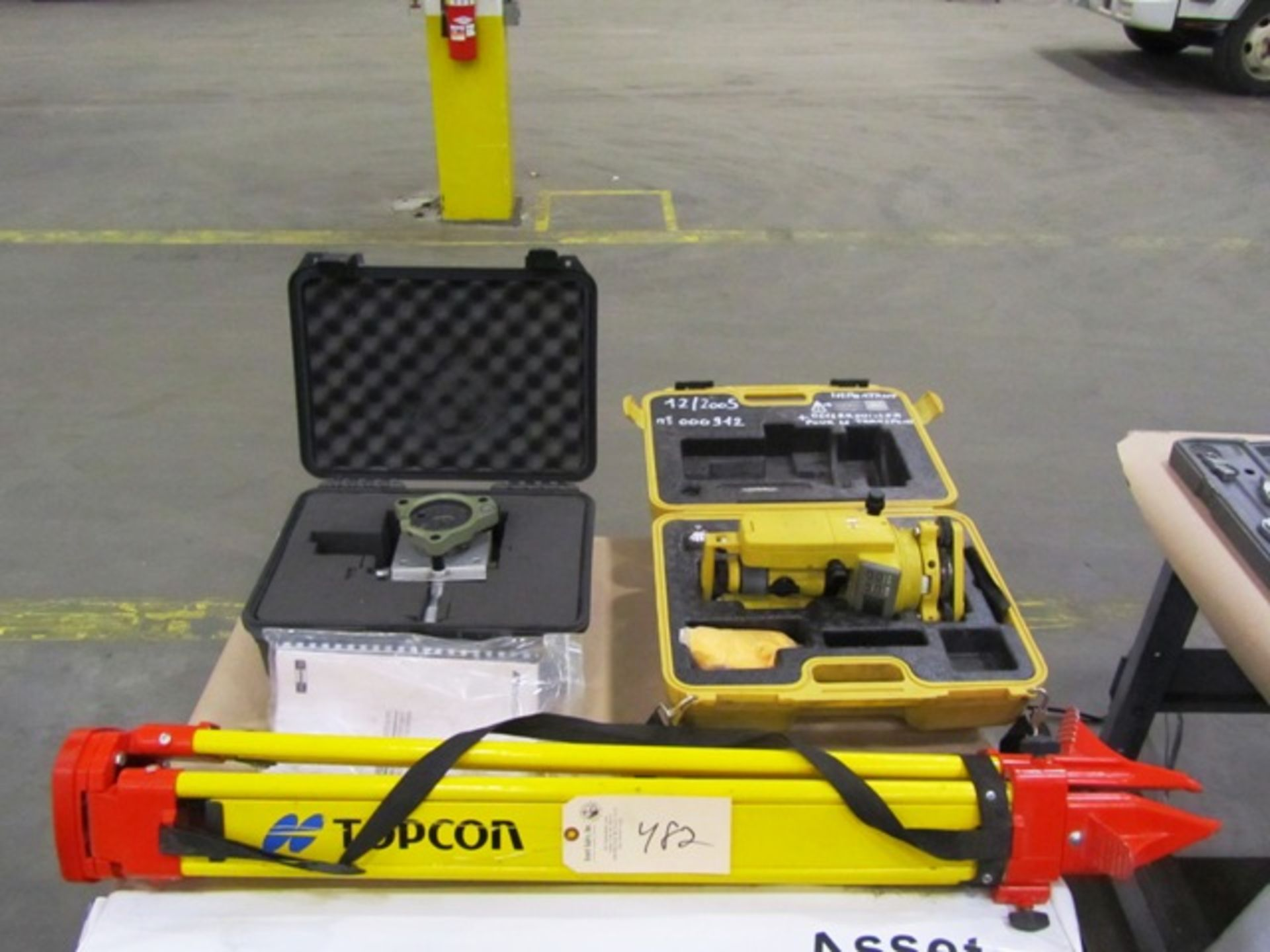 (1) Topcom Series DT-200 Laser Level & (1) Topocenter Level Unit with Tripod