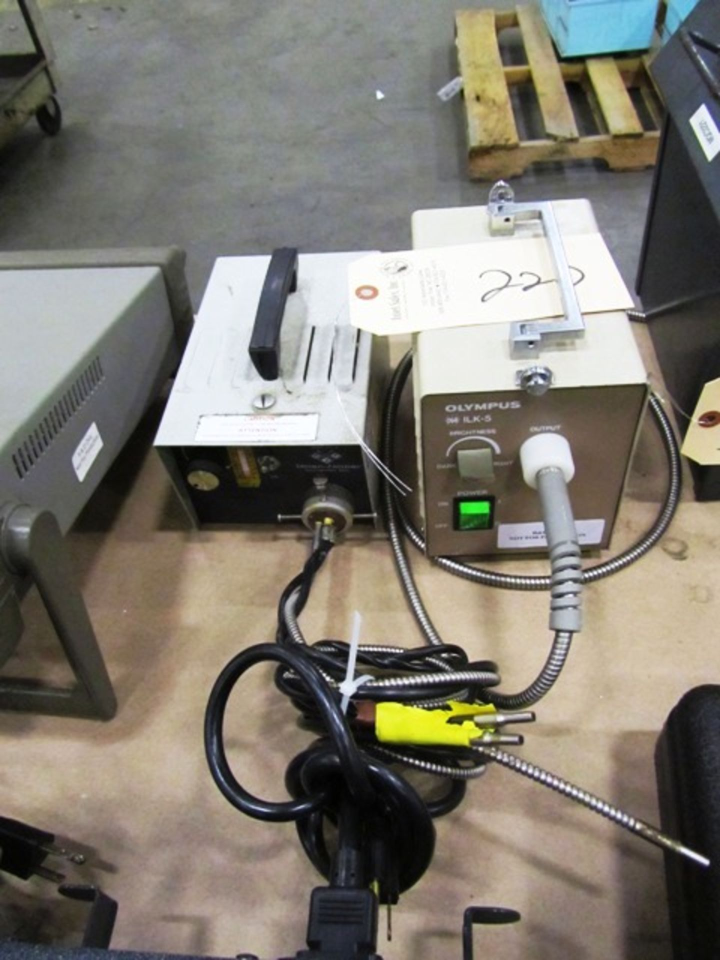 (1) Olympus ILK-3 Cold Light Supply & (1) Dolan-Jenner Fiber-Lite
