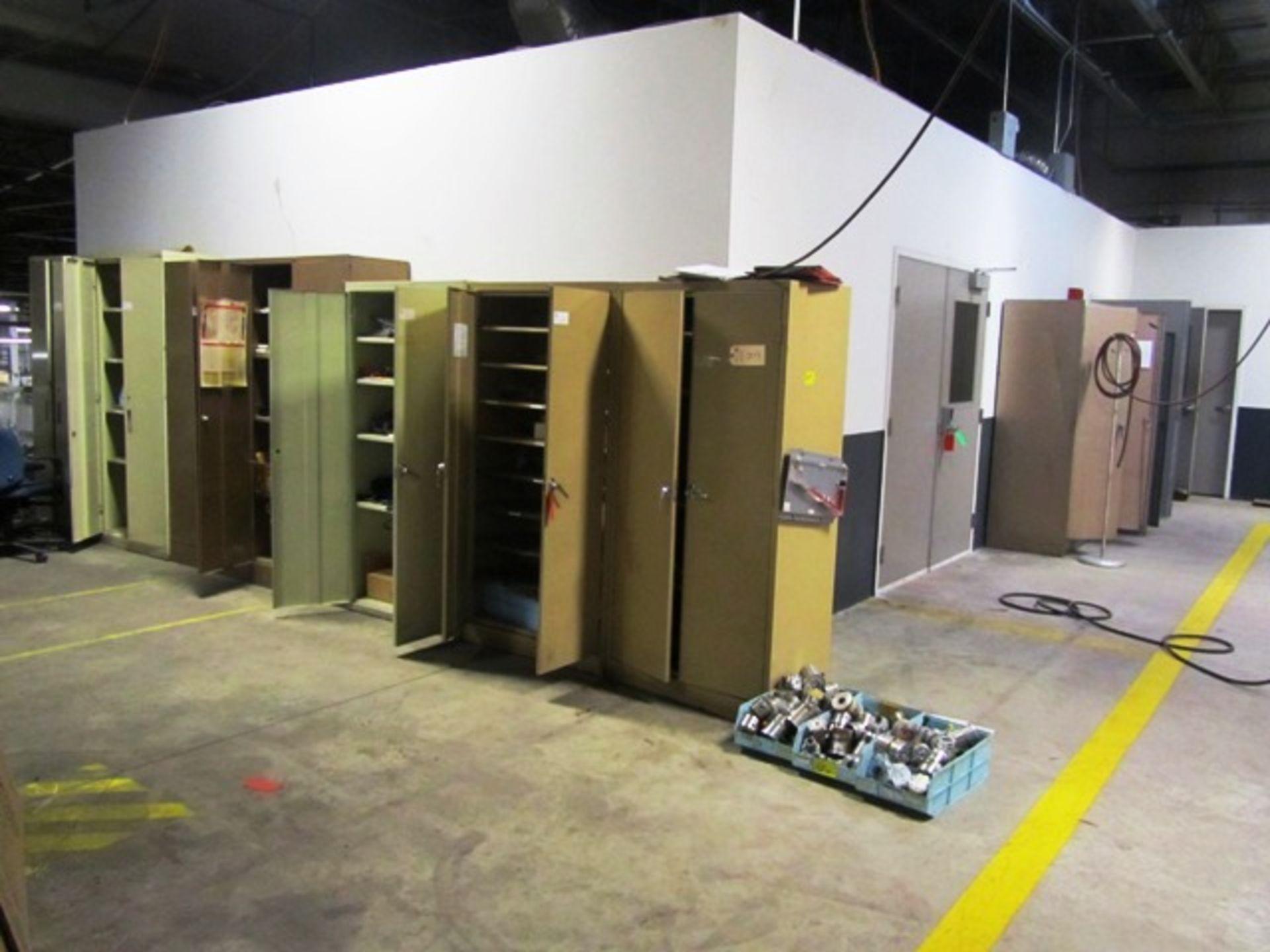 (10) 2 Door Cabinets with Lab Equipment