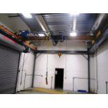 Demag 3-1/2 Ton Top Running Self Supporting Overhead Single Girder Bridge Crane