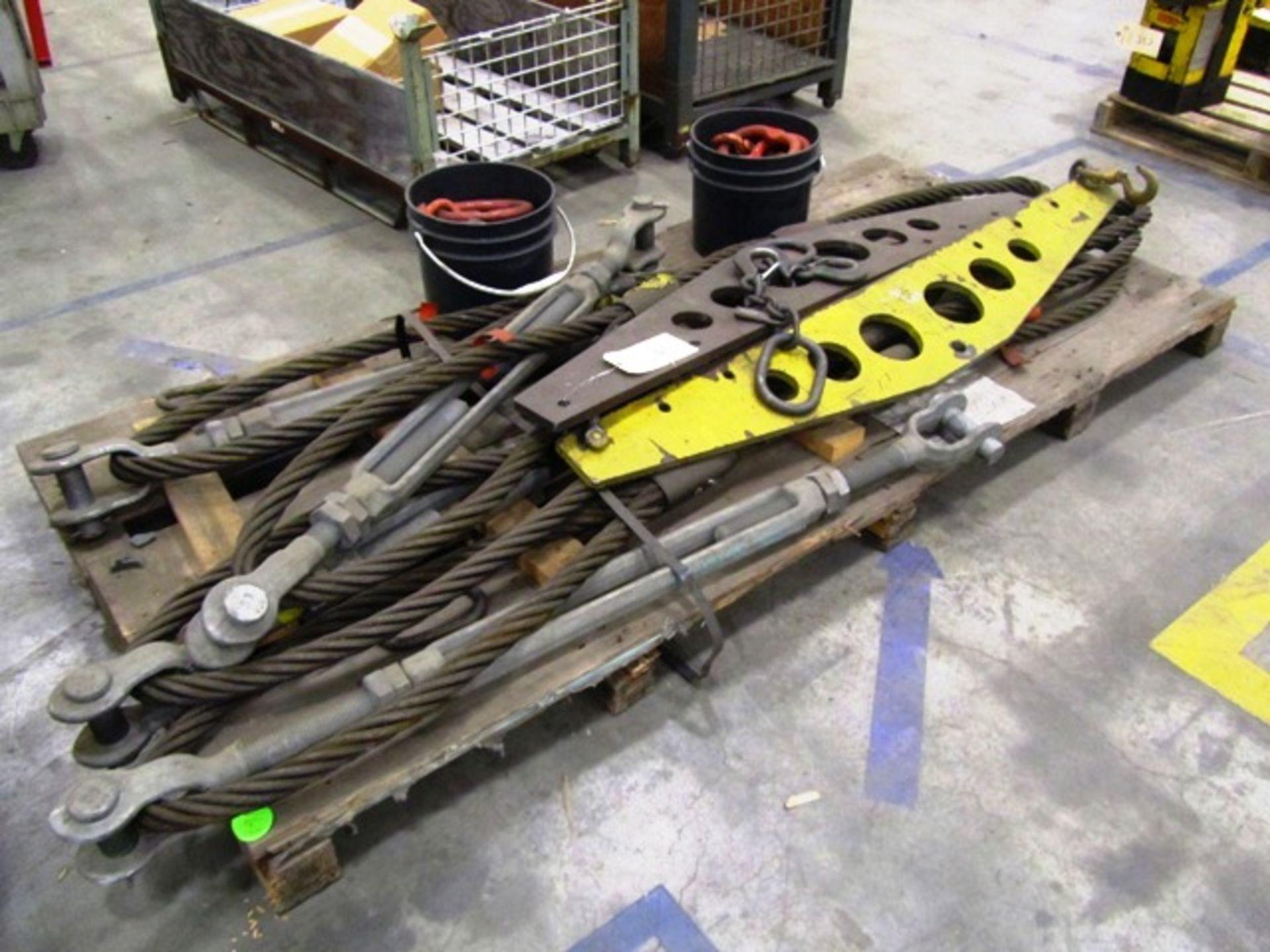 (2) Spreader Beams, Turnbuckels with Wire Slings