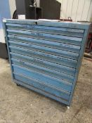 Portable 9 Drawer Vidmar Type Cabinet