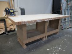 92''L x 44''W x 37''H Tables with 5'' Bench Vise
