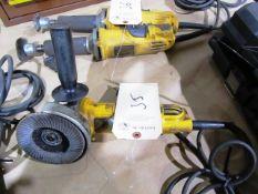 (2) Dewalt Electric Grinders