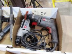 (2) Porter-Cable Electric Hand Drills