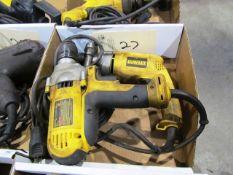 (2) Dewalt Electric Hand Drills
