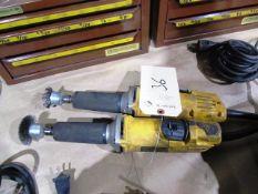 (2) Dewalt Electric Straight Grinders