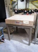 Starrett 36'' x 36'' x 6'' Grade A Pink Granite Surface Plate with Stand