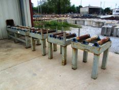 Approx 8 & (3) 30' Roller Conveyors (for hem saws - used with lot 530)