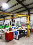 Contrax Cranes 360 Degree 1/2 Ton Capacity Free Standing Jib Crane