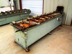 Approx 11' Roller Conveyor (for hem saws - used with lot 529)