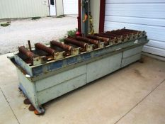Approx 11' Roller Conveyor (for hem saws - used with lot 528)