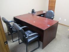 Contents of Office consisting of Desk with (3) Chairs